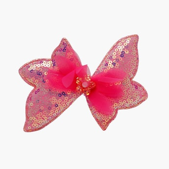 STOLN Girls Sequinned Bow Accent Alligator Clip