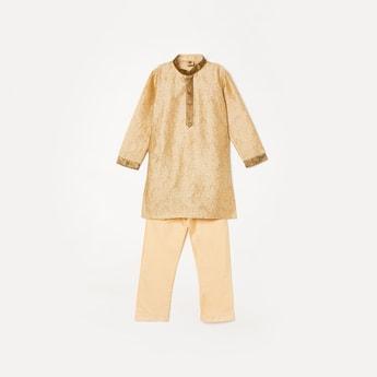 MANYAVAR Boys Self-Design Short Kurta with Pants
