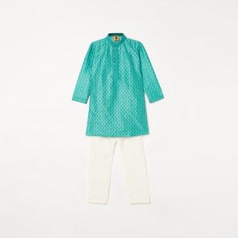 MANYAVAR Boys Printed Kurta with Pyjama