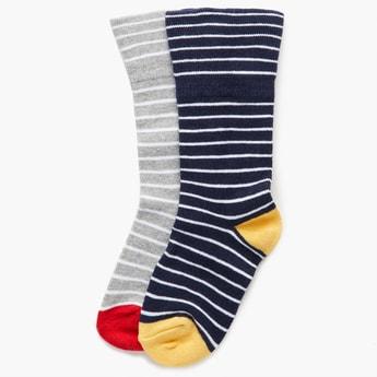 MAX Striped Melange Socks - Set Of 2 Pcs.