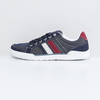 MAX Panelled Denim Lace-Up Shoes