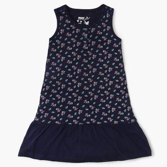 MAX Floral Printed Ruffled Hem Dress