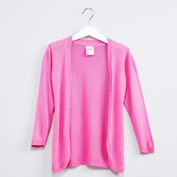 MAX Shimmery Front-Open Cardigan