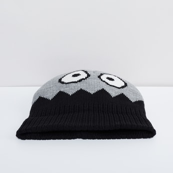 MAX Jacquard Face Knitted Beanie