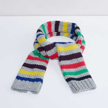 MAX Colour-Blocked Knitted Muffler