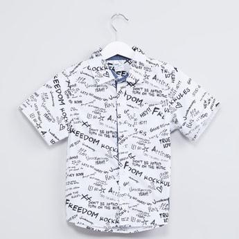 MAX Scribble Print Short Sleeve Shirt