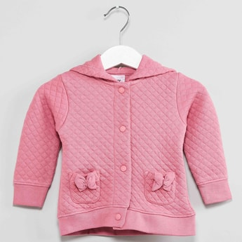 MAX Quilted Hoodie with Bow