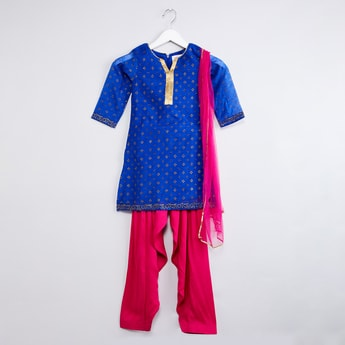MAX Kurta with Patiala and Dupatta Set - Set of 3 Pcs.