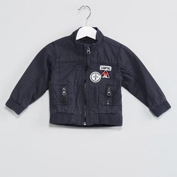 MAX Zip-Up Applique Jacket