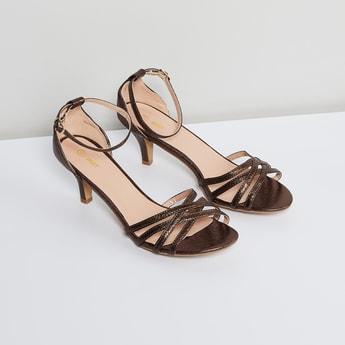 MAX Sheen Detailed Heeled Sandals