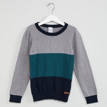 MAX Colourblocked Full Sleeve Pullover