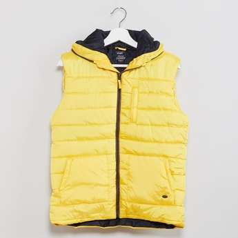 MAX Quilted Hooded Sleeveless Jacket