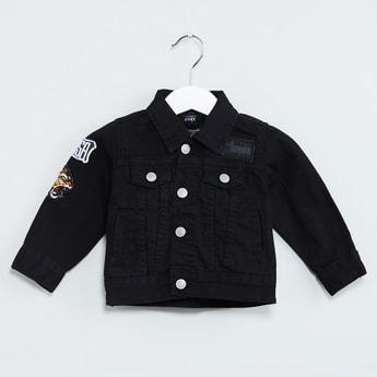MAX Retro Applique Denim Jacket