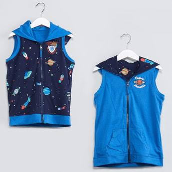 MAX Printed Zip-Up Reversible Sweatshirt