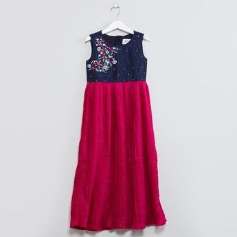 MAX Embroidered Sleeveless Maxi Dress