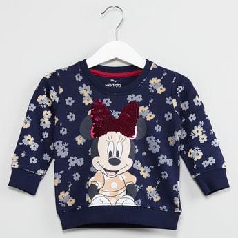 MAX Floral Minnie Full Sleeve Sweatshirt