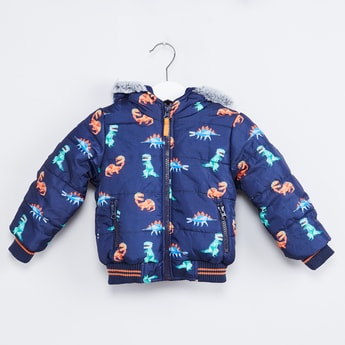 MAX Dino Print Quilted Jacket