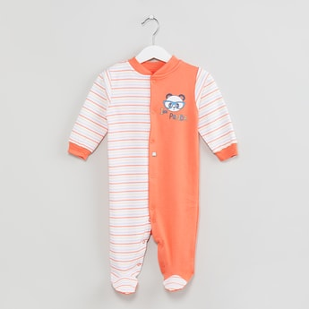 MAX Striped Buttoned Sleepsuit