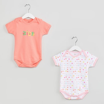 MAX Printed Knitted Rompers-Set of 2 Pcs.