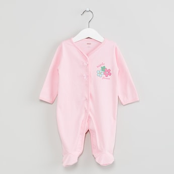 MAX Printed Buttoned Sleepsuit