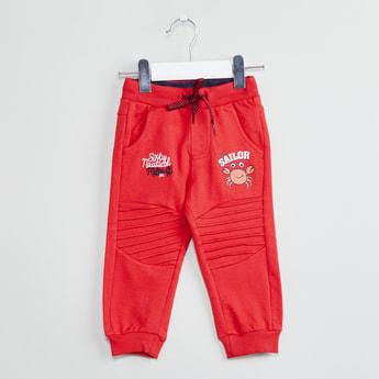MAX Printed Panelled Jogger Pants