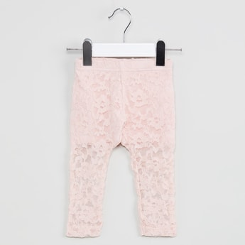 MAX Floral Lace Trousers