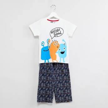 MAX Graphic Print Sleepwear Set