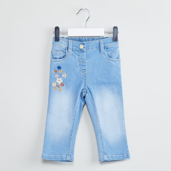 MAX Embroidered Low-Rise Jeans