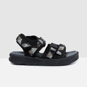 MAX Geometric Print Floater Sandals