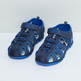 MAX Solid Velcro Closure Sandals