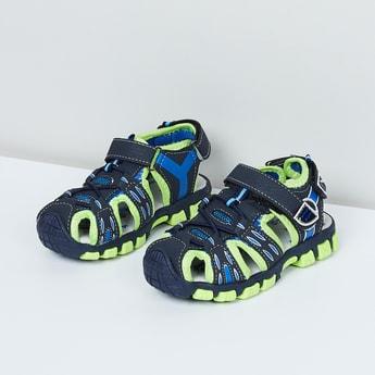 MAX Mesh-Detailing Velcro Closure Sandals