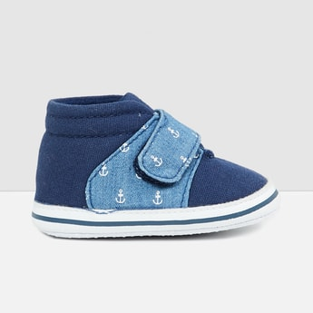 MAX Printed Slip-On Shoes with Velcro Closure