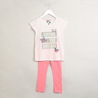 MAX Printed Sleepwear Set - 2 Pcs