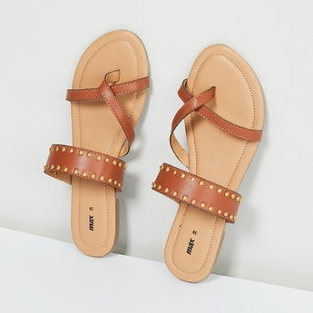 MAX Embellished Strap One-Toed Flats