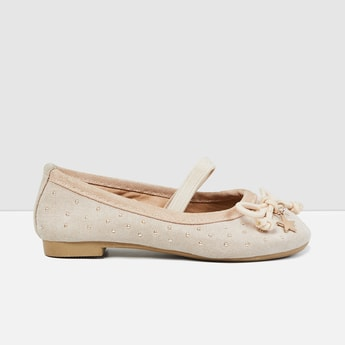 MAX Studded Ballerinas with Mock Tie-Up