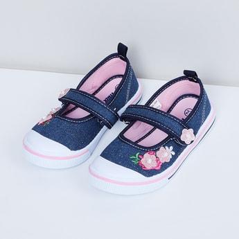 MAX Floral Embellished Canvas Shoes