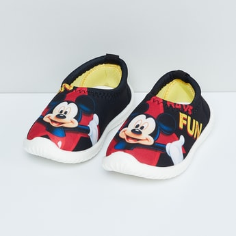MAX Mickey-Mouse Print Slip-On Shoes