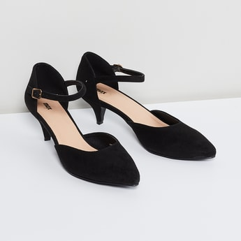 MAX Cone Heel d'Orsay with Ankle Strap