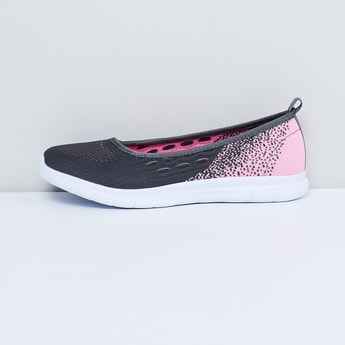 MAX Knitted Wedge Heeled Slip-On Shoes