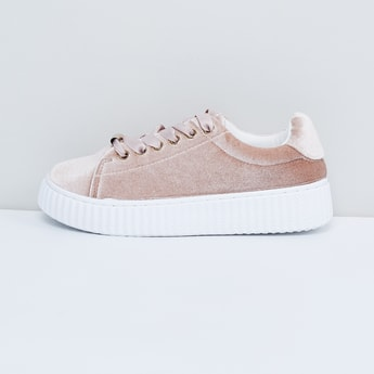 MAX Solid Lace-Up Flatform Shoes