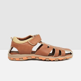MAX Textured Sandals with Velcro Closure