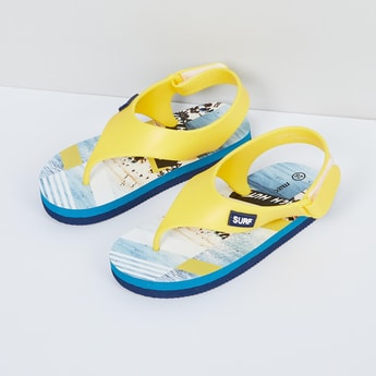 MAX Graphic Print Slingback Slippers
