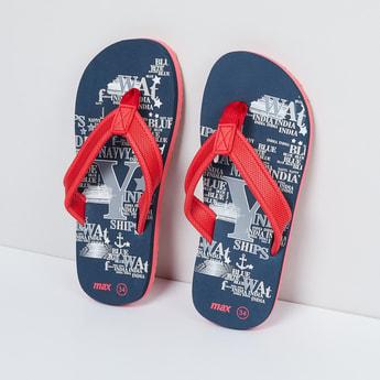 MAX Typographic Print Flip-Flops