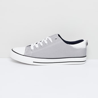 MAX Textured Canvas Lace-Up Shoes