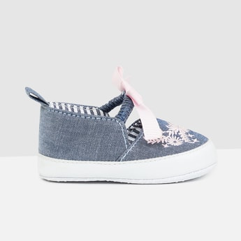 MAX Embroidered Bow-Detailed Casual Shoes
