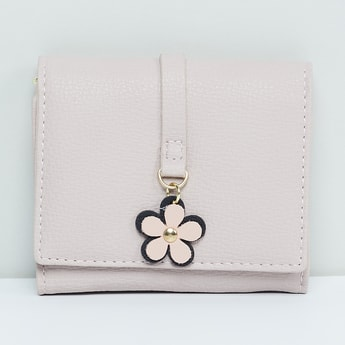 MAX Kids Floral Accent Textured Wallet