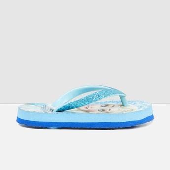 MAX Frozen Print Shimmery Flip-Flops