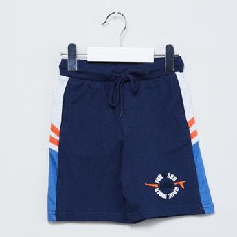 MAX Drawstring Waist Colourblock Shorts