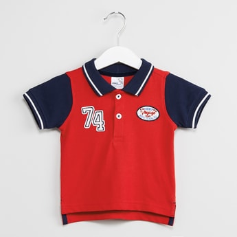 MAX Applique Detailed Polo T-shirt