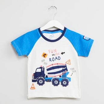 MAX Raglan Sleeves Printed T-shirt